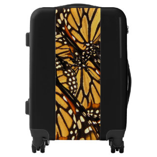 Black Orange Monarch Butterfly Abstract Luggage