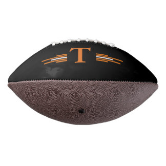 Black Orange Monogram  2 Panel Design Football