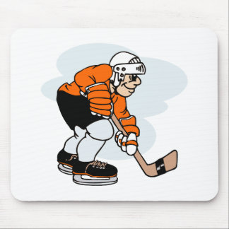 Black Orange Player Mouse Pad
