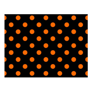 Black Orange Polk-a-dots Postcard