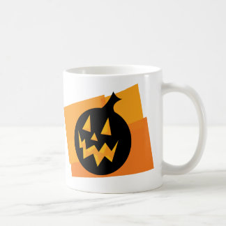 Black & Orange Pumpkin Classic White Coffee Mug