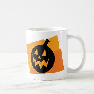 Black & Orange Pumpkin Mugs