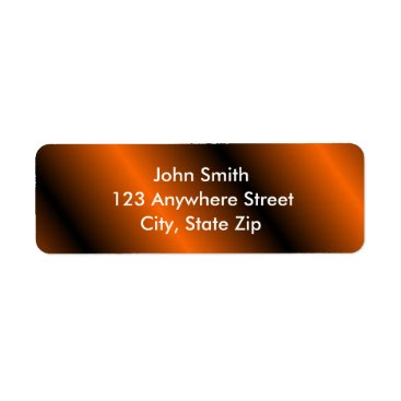 Halloween Themed Black/Orange Return Address Labels