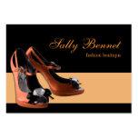 Black & Orange Shoe Boutique Store Business Card