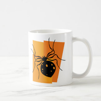 Black & Orange Spider Classic White Coffee Mug