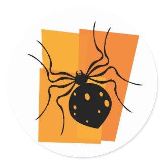 Black & Orange Spider sticker