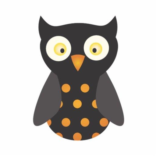 Black Orange Spotted Owl Cut Out Zazzle