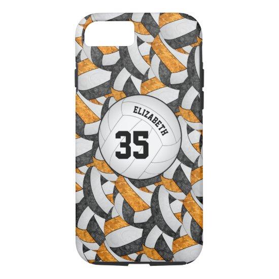 black orange team spirit gifts girls' volleyball iPhone 8/7 case