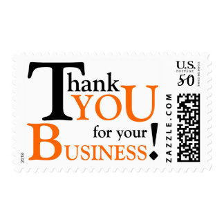 """Black & Orange """"Thank you for your Business"""" Postage"""