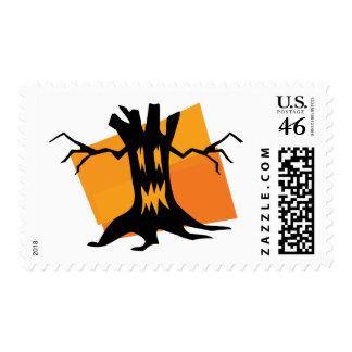 Black & Orange Tree Postage Stamps