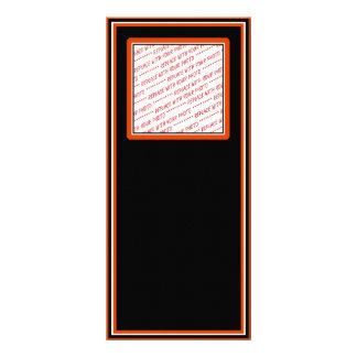 Black & Orange Trimmed Photo Template Rack Card