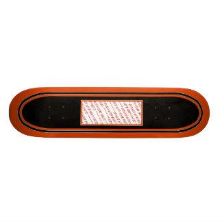 Black & Orange Trimmed Photo Template Skateboard Deck