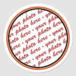 Black & Orange Trimmed Photo Template Stickers