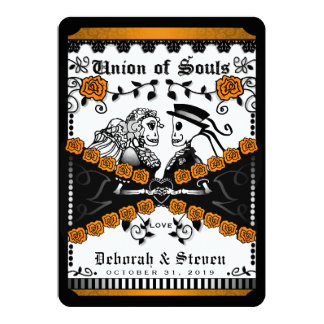 Black Orange White Union Souls Wed TOGETHER WITH Card