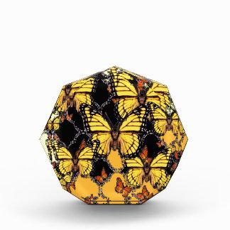 BLACK-ORANGE-YELLOW MONARCH BUTTERFLIES ART ACRYLIC AWARD