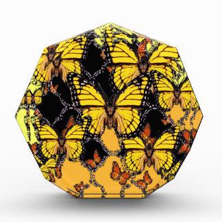 BLACK-ORANGE-YELLOW MONARCH BUTTERFLIES ART AWARD