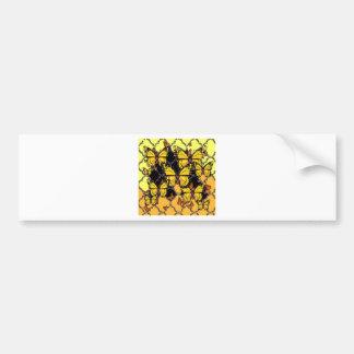 BLACK-ORANGE-YELLOW MONARCH BUTTERFLIES ART BUMPER STICKER