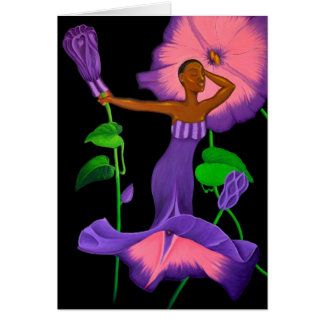 'Black Orchid'  blank greeting card