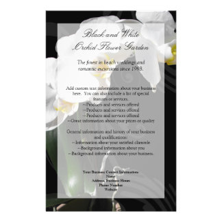 Black Orchid Flyer, Wedding Program, Menu or Other