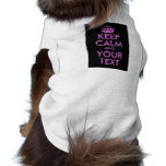 Black Orchid Keep Calm and Your Text Pet Shirt