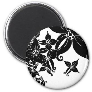 Black Orchids 2 Inch Round Magnet