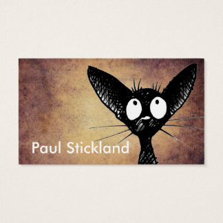 Black Oriental Cat Art Business Card