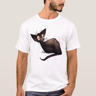 Black Oriental Cat T-Shirt