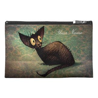 Black Oriental Cat Travel Accessories Bags
