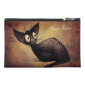 Black Oriental Cat Travel Accessory Bag