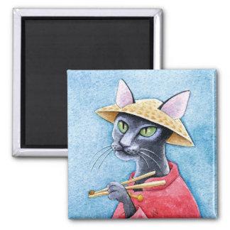 Black Oriental Shorthair Cat magnet