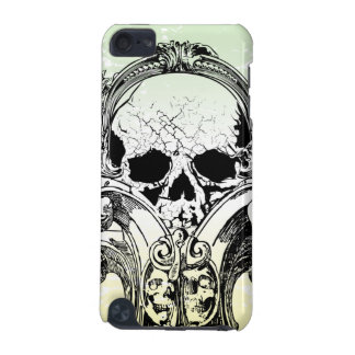 Black ornate skull awesome ipod touch case