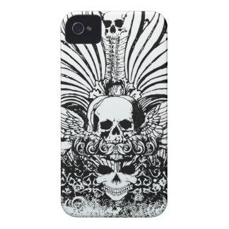 Black ornate skulls awesome blackberry bold case