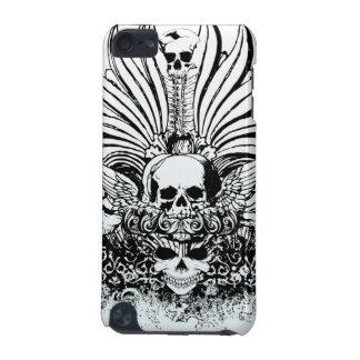 Black ornate skulls awesome ipod touch case