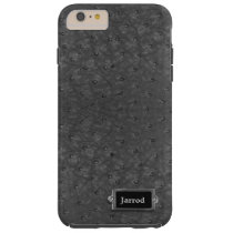 Black Ostrich Leather Look iPhone 6 Plus Case