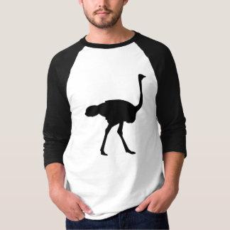 Black ostrich T-Shirt