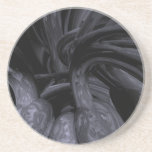 Black Out Abstract Coaster
