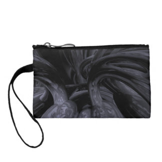 Black Out Abstract Coin Wallet