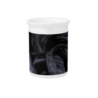 Black Out Abstract Pitchers
