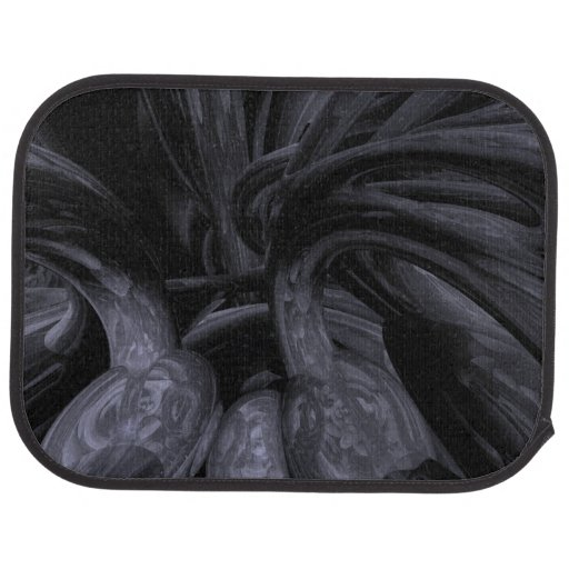 Black Out Abstract Floor Mat