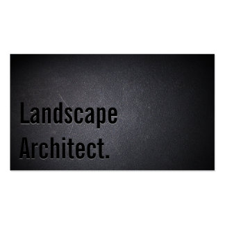 Black Out Landscape Architect Business Card
