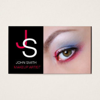 Black Out Makeup Artist Business Card