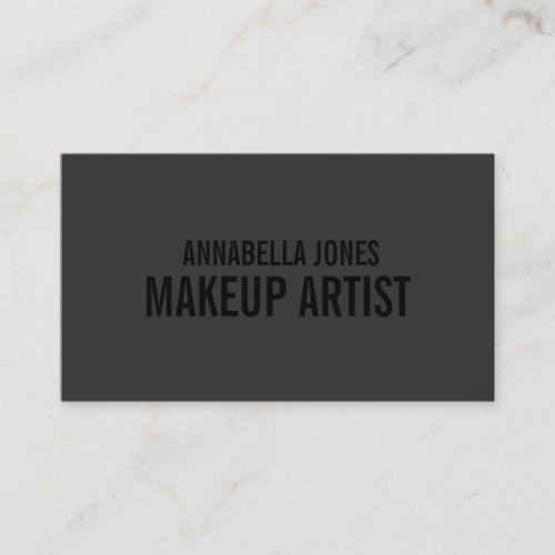 Black Out Makeup Artist  Business Cards