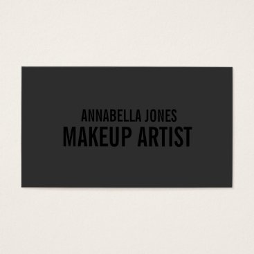 FINEandDANDY Black Out Makeup Artist | Business Cards