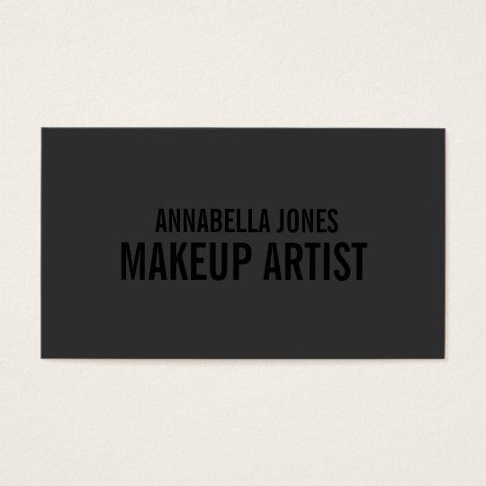 black out makeup artist business cards zazzle
