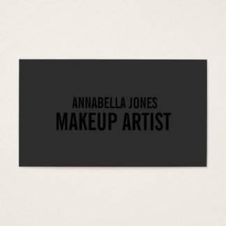 Black Out Makeup Artist   Business Cards
