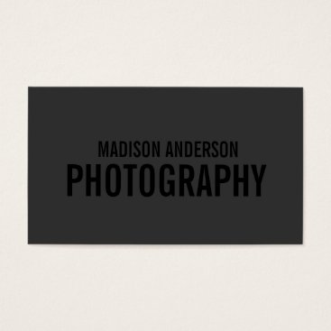 Professional Business Black Out Photography | Business Cards