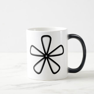 Black Outline Athterisk Mug