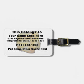 black outline habanero yellow graphic tags for luggage