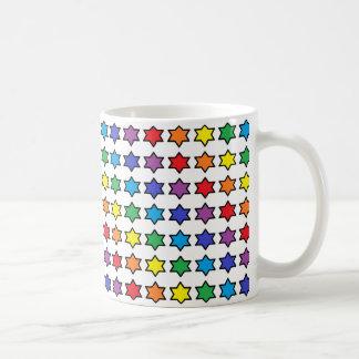 the office star mug. Black Outlined Rainbow 6 Point Stars Coffee Mug The Office Star