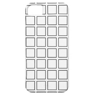 Black Outlined Squares iPhone SE/5/5s Case